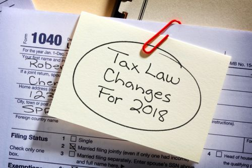 Sticky Note - Tax Law Changes for 2018