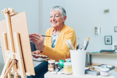 Woman Painting as Hobby