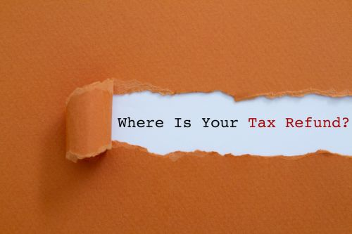 Typed words: Where is your tax refund?