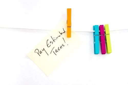 Pay Estimated Taxes! Adhesive Note Reminder