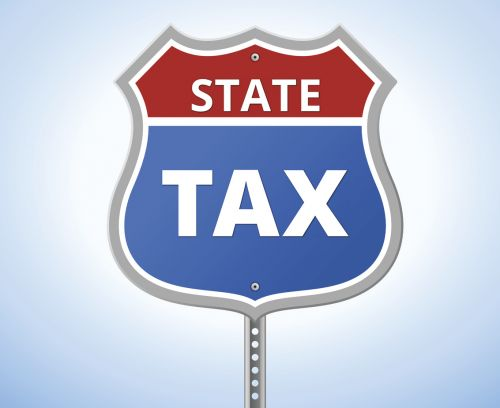 State tax route sign